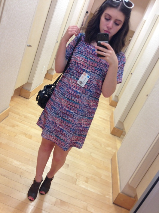 Shopping after class. Dress from Forever21.