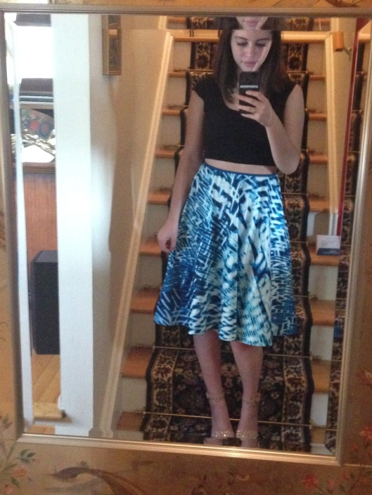 One of my favorite outfits so far this week! I was gifted this skirt from my mom's best friend and I can't get enough of it.